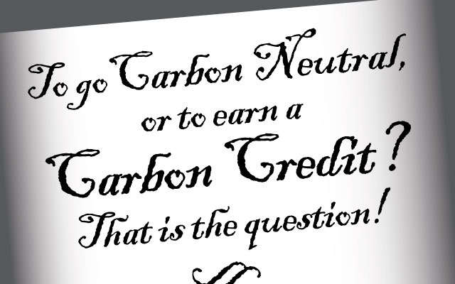 carbon neutral or carbon credits